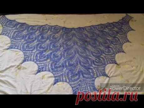 Стирка и блокировка шали. Влажно тепловая обработка шали