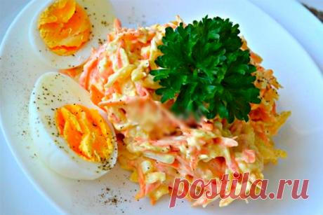 Любимый французский салат с морковью и сыром — самый популярный и вкусный! Каждый раз влюбляюсь в него снова!