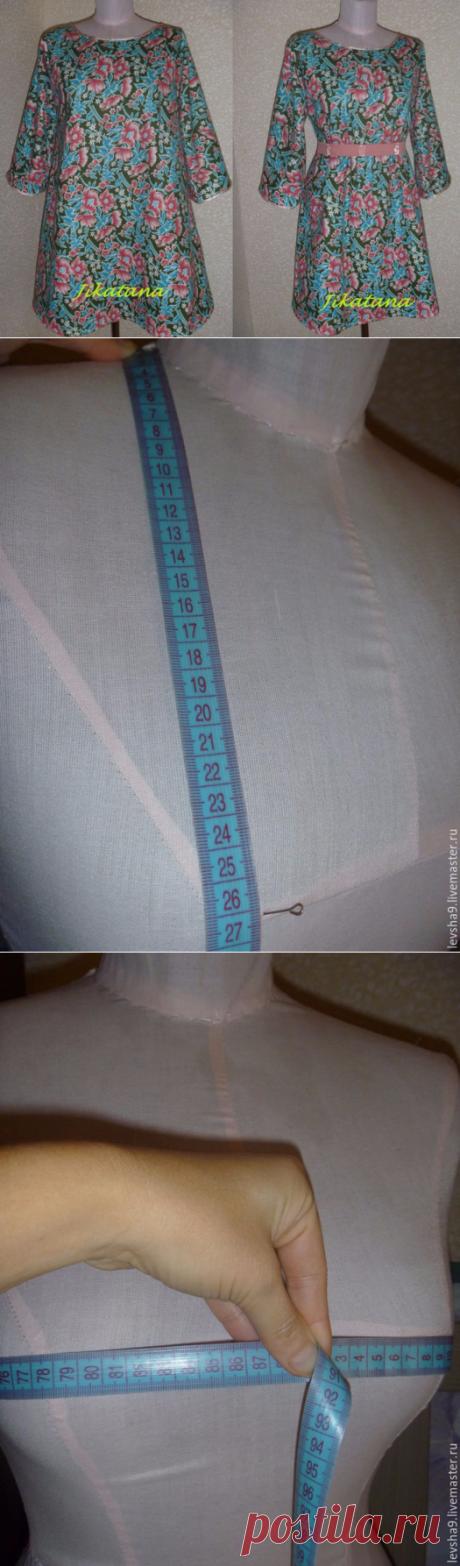 Шьем домашнее платье без выкройки за 1 час (с двумя мерками). Мастер-класс