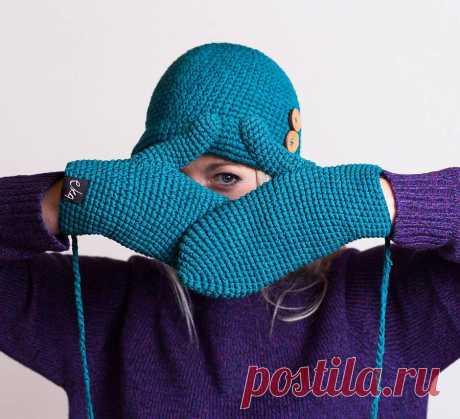 Вязание варежек спицами: простые и модные способы