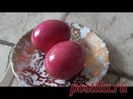 Красим яйца натуральными красителями СВЕКЛОЙ