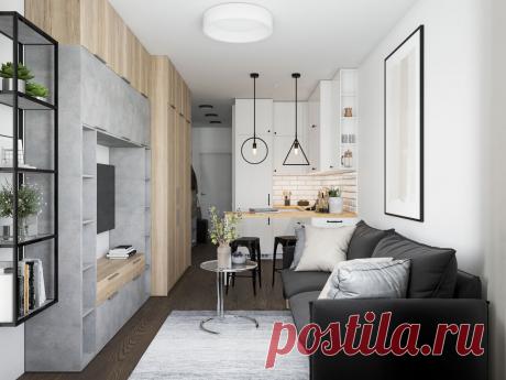 Дизайн-проект квартиры-студии в скандинавском стиле под ключ в ЖК «Radius Central House» в Екатеринбурге — Alexander Tischler