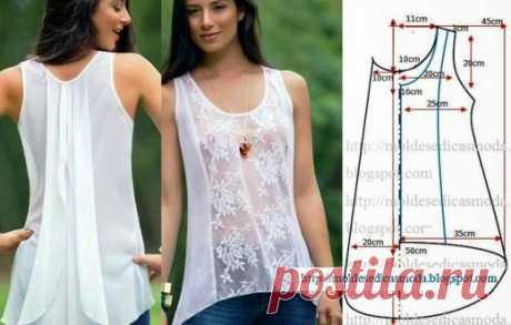 Шикарные блузки - выкройки на любой вкус