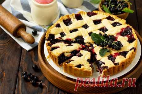 Пирог со смородиной рецепт с фото пошагово