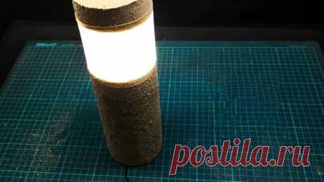 Из ПВХ трубы делаем светодиодный садовый светильник