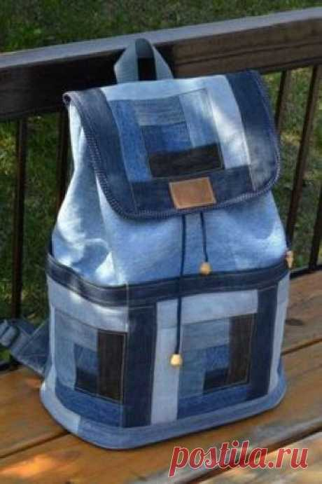 Backpack from jeans the hands (79 photos): patterns and a master class how to sew the hands