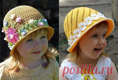 Вяжем шляпки-панамки