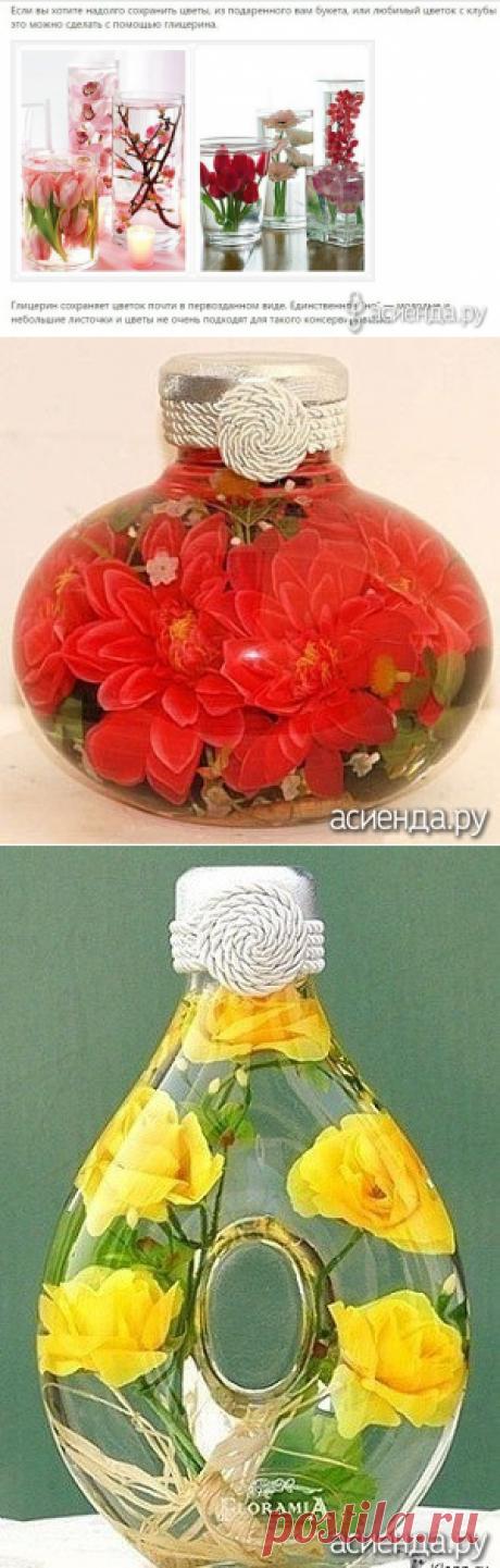 Как сохранить цветы с использованием глицерина: Группа Цветы и флористика