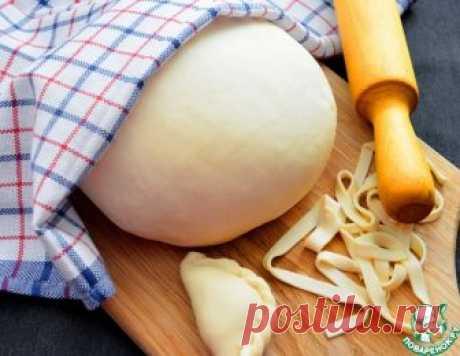 Постное тесто для вареников и лапши – кулинарный рецепт