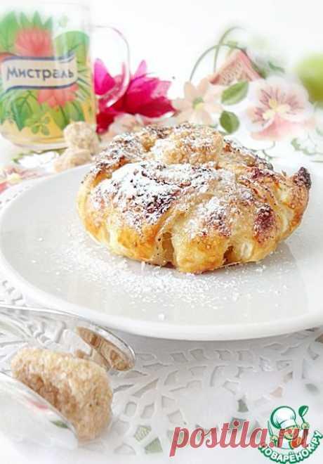 """Яблочные слойки """"Хризантемы"""" - кулинарный рецепт"""