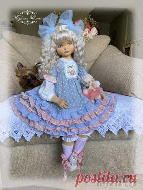 Коллекционная текстильная кукла
