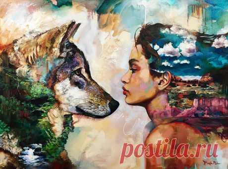 16-ти летняя художница Димитра Милан и ее необыкновенные картины