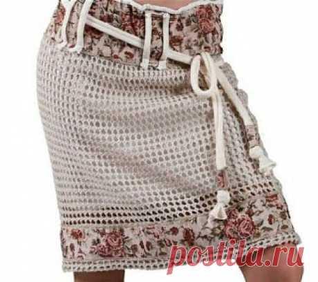 Любимая вышивка и вязание: Хитовая комбинация ткани и вязания