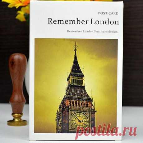 """Набор открыток """"Запомнить Лондон"""". 30 шт. (AliExpress)"""