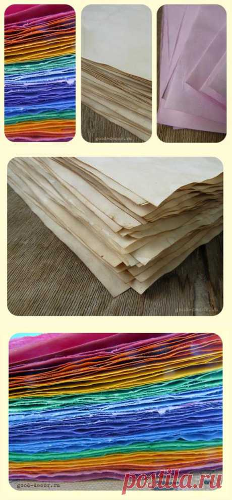 How to paint paper with tea, coffee, a water color and food dyes