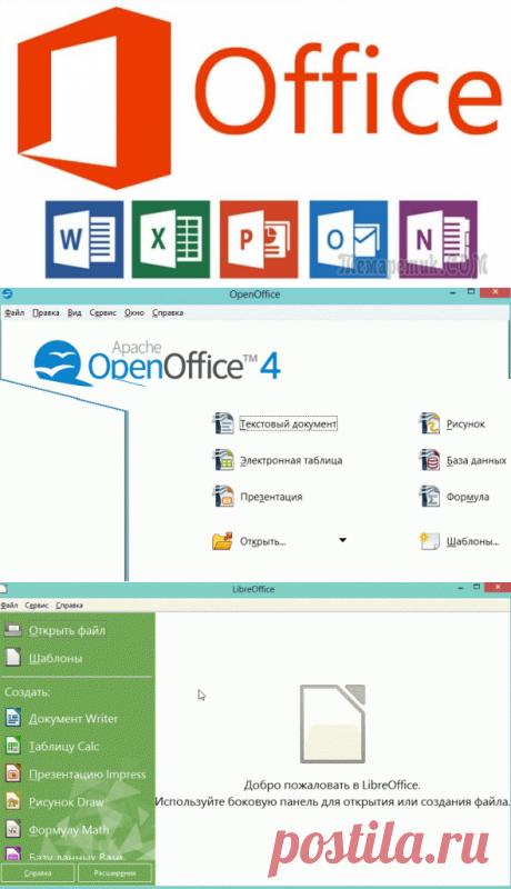 Замена Microsoft Office (Word, Excel…). Бесплатные аналоги