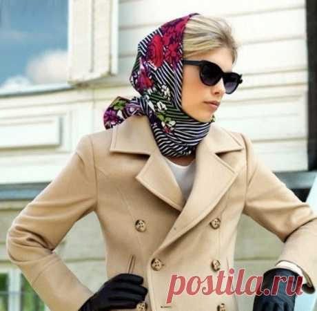 Как красиво повязать платок на голову зимой: 20 образов — Женский Гид