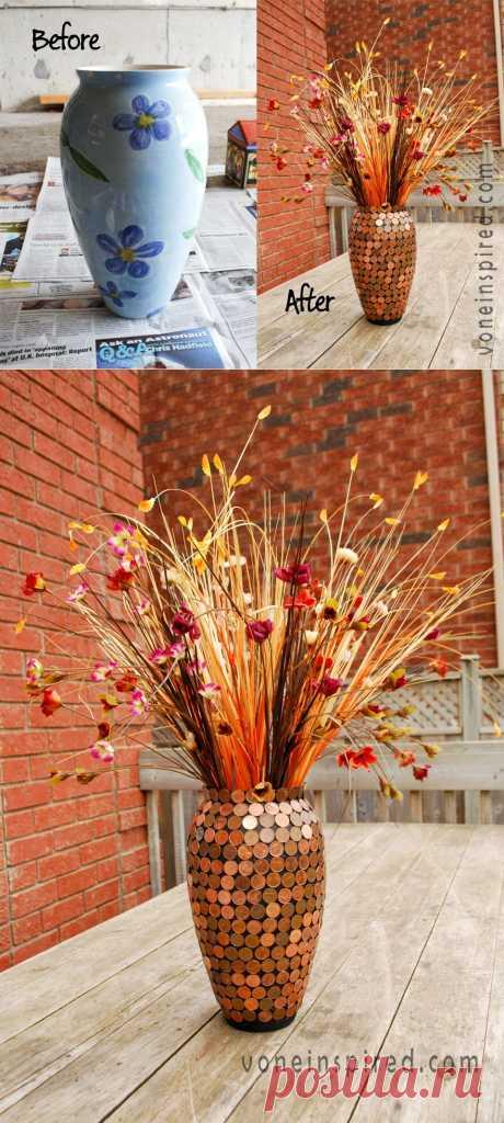 Старая ваза для цветов вдруг превращается.... - добавил(а) Наташа Минейт на ХОУМ - всё в дом, всё в семью