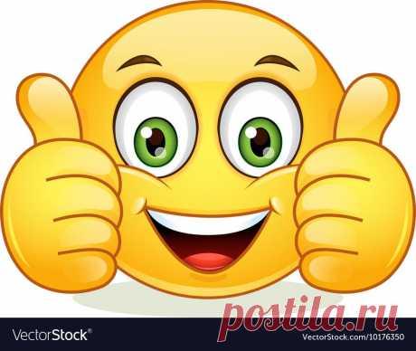 Foto von Yael Weiss auf fotolia  · · · Vektor: Thumb up winking emoticon