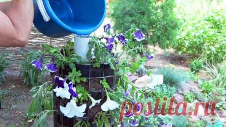 Как сделать вертикальную клумбу Переносная вертикальная цветочная клумба является необычным ярким украшением для частного дома или дачи. Высадив в нее густо цветущие растения можно создать практически сплошную колонну из лепестков и листьев. Преимущество вертикальной клумбы не только в ее красоте, но и очень простом уходе.
