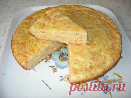 Рыбный пирог с сыром. Быстро и вкусно!
