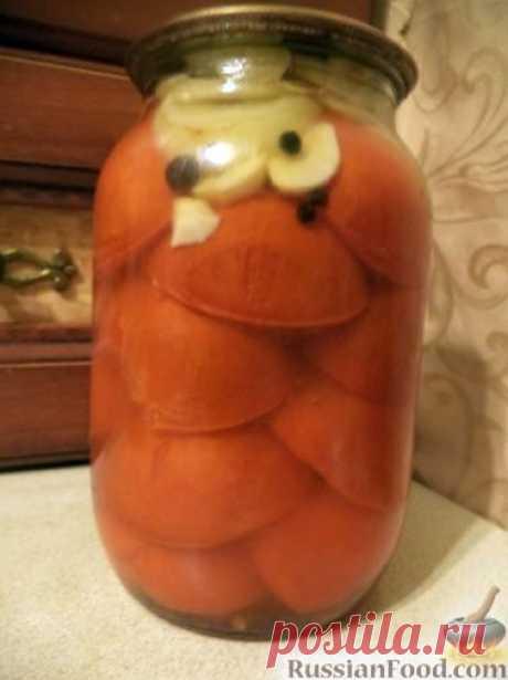 Рецепт: Дольки помидоров в желатиновой заливке