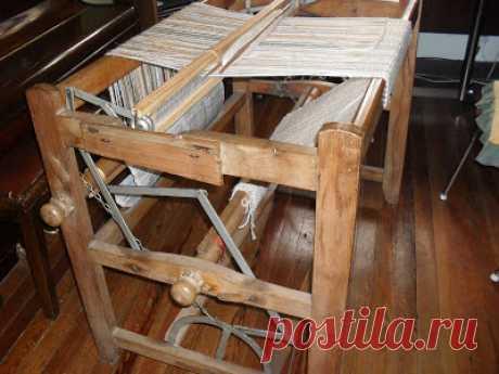 UN LUGAR DE TELAR WITRALWE: antiguo telar a tijera