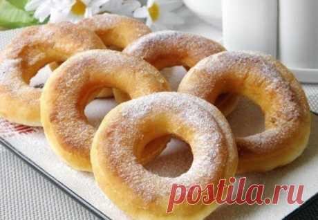 Пончики на кефире за 15 минут — Sloosh – кулинарные рецепты