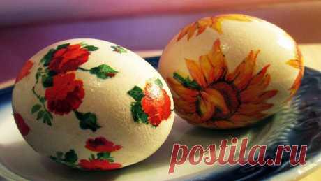 Симпатичный декор Пасхальных яиц без покраски. Все очень просто | Мастер Сергеич | Яндекс Дзен