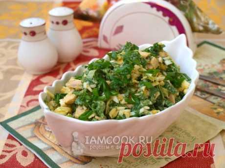 Салат из шпината с индейкой и яйцом