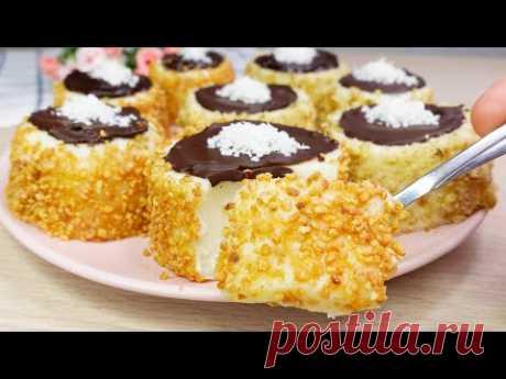 БЕЗ выпечки! БЕЗ Желатина и Яиц! Очень нежный и вкусный десерт! # 135