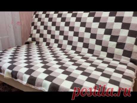красивый ПЛЕД крючком / Crochet Plaid Blanket - YouTube