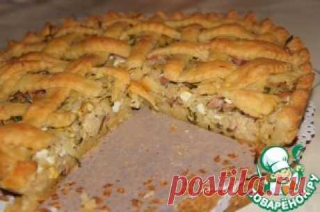 """Пирог с капустой """"Нежный"""" - кулинарный рецепт"""