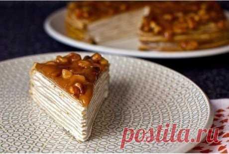 Как приготовить супервкусный блинный торт - рецепт, ингредиенты и фотографии