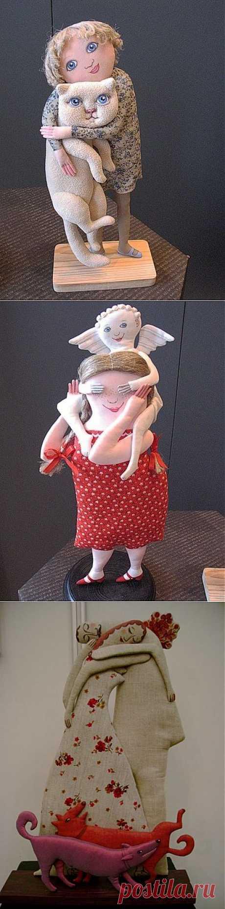 Текстильные скульптуры Татьяны Овчинниковой | Умелые ручки