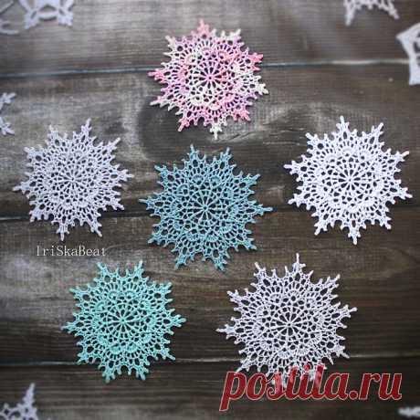 Снежинка крючком от Ирины Малеевой