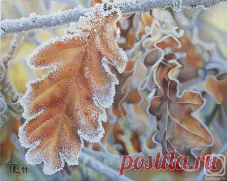 «Морозное утро» картина Проскуряковой Татьяны маслом на холсте — купить на ArtNow.ru