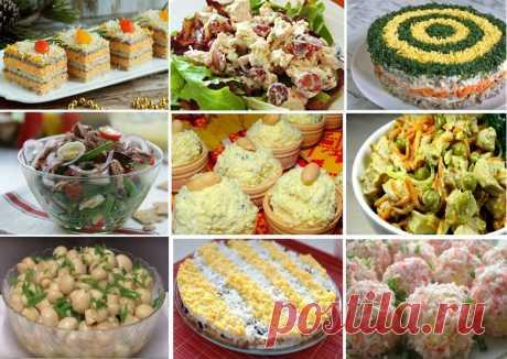 Закуски и салаты на праздничный cтοл   Кулинарушка - Вкусные Рецепты