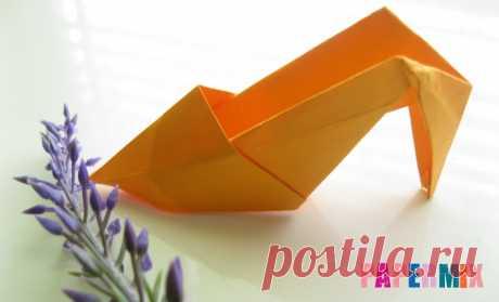Как сделать туфли из бумаги (оригами) своими руками