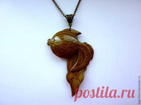 Лепим из полимерной глины: золотая рыбка в технике «мика шифт» - Ярмарка Мастеров - ручная работа, handmade
