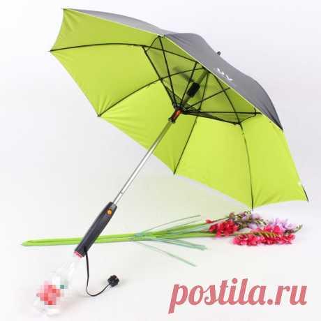 Солнечный и дождливый Зонт 4 цветов с вентилятором и распылителем летний Зонт с длинной ручкой | Дом и сад
