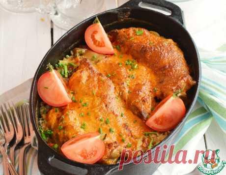 Свиные ножки, запеченные с рисом – кулинарный рецепт