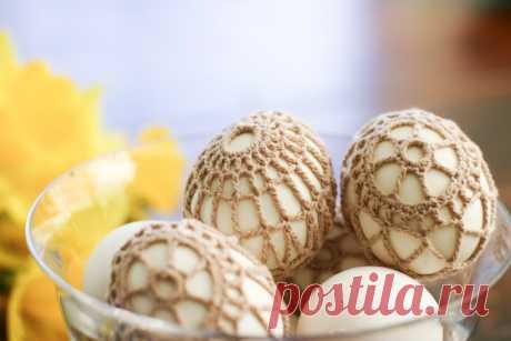 Яйца в ажурной обвязке - схема вязания крючком. Вяжем Декор на Verena.ru