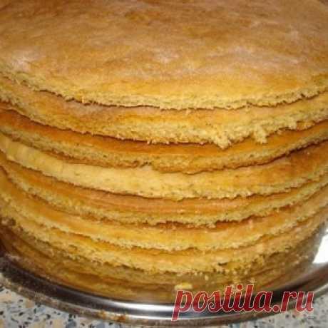 Коржи для торта на сковородке!