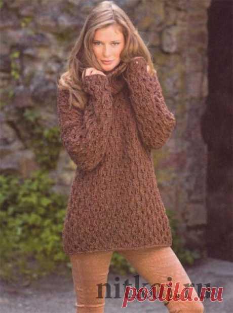 Вязаный пуловер спицами » Ниткой - вязаные вещи для вашего дома, вязание крючком, вязание спицами, схемы вязания