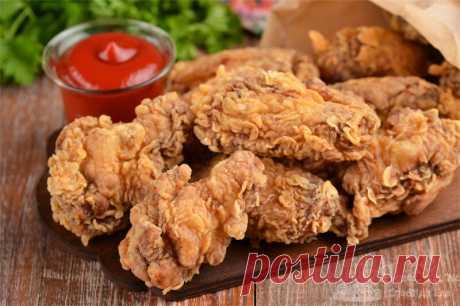 Крылышки KFC. Настоящий рецепт хрустящей панировки. Без кукурузных хлопьев и яиц. Все намного проще   Совет да Еда   Яндекс Дзен