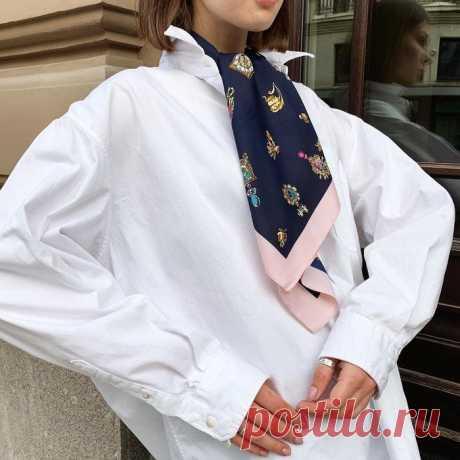 Как красиво завязать шёлковый платок