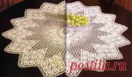 Салфетка или скатерть #вязание_крючком #вязание #схема_крючком #вяжу_крючком