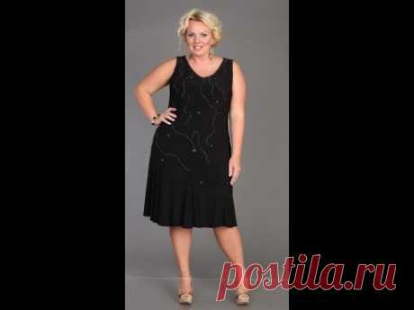 Платье с нижним воланом и советы для полных.