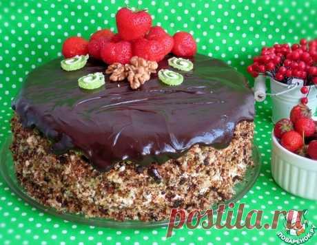 Торт клубнично-ореховый – кулинарный рецепт